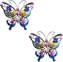 LOVIVER Confezione 2 Farfalle Scultura da Parete