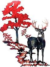 LOVIVER Deer in Woodland Metal Wall Art Decorativo