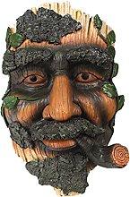 LOVIVER Old Man Tree Face Scultura in Resina, Vaso