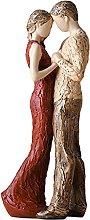 LOVIVER Resina Coppia Statua Scultura Ornamento