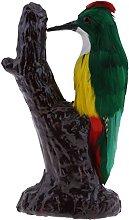 LOVIVER Statua Artificiale Uccello Finto Piumato
