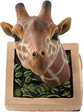 LOVIVER Testa di giraffa Statua da parete 3D Fauna