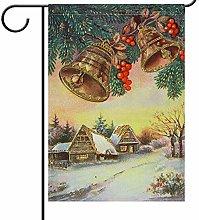 Lplpol - Bandiera invernale per giardino, con