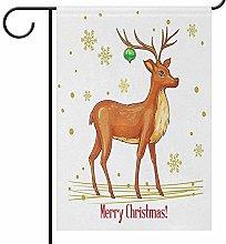 Lplpol, bandiera natalizia con fiocchi di neve,