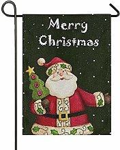 Lplpol - Bandiere da giardino con Babbo Natale e