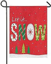Lplpol Let It Snow Green - Bandiere per albero di