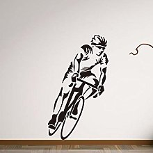LSDAEER Adesivo Murale Ciclista Soggiorno Camera
