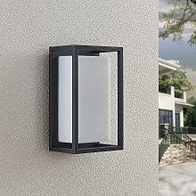 Lucande Ilirian applique da esterni LED, alluminio