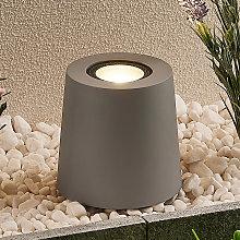 Lucande lampada da giardino Elvar, cemento