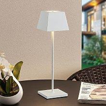 Lucande Patini lampada LED tavoli esterni, bianco