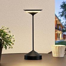 Lucande Raminum lampada LED tavoli esterni, nero