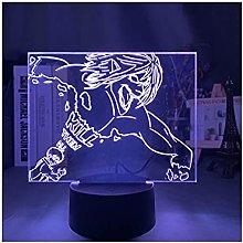Luce notturna illusione 3D USB,Anime 3D Illusion