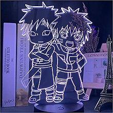 Luce notturna illusione 3D USB,Anime Carino Naruto