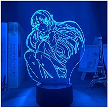 Luce notturna illusione 3D USB,Anime Waifu Mai