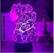 Luce notturna illusione 3D USB,Gon E Killua Figura