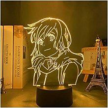 Luce notturna illusione 3D USB,Il Tuo Nome Mitsuha