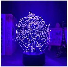 Luce notturna illusione 3D USB,Lampada 3D Anime