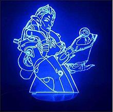 Luce notturna illusione 3D USB,Lampada 3D Gioco