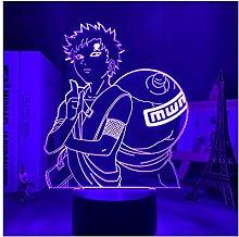 Luce notturna illusione 3D USB,Lampada 3D Naruto