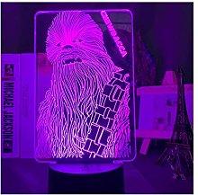 Luce notturna illusione 3D USB,Lampada 3D Star