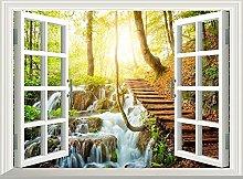 Luce solare effetto 3d finestra vista adesivo da