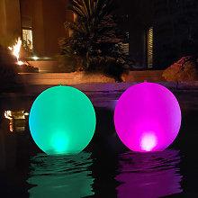 Luci a LED solari da 14 pollici, sfera a LED