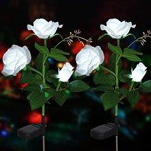 Luci artificiali per fiori solari a forma di rosa