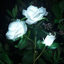 Luci di fiori solari artificiali di rose luci