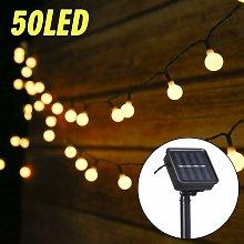 Luci solari da esterno a stringa, 6,9 M 50 LED a