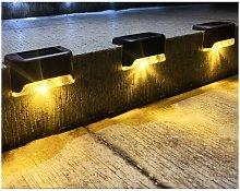 Luci solari per esterni, confezione da 4 luci