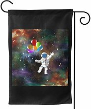 Luckchn, bandiera da giardino, astronauta con