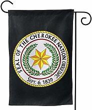 LUCKCHN Bandiera da giardino Cherokee Nation Great