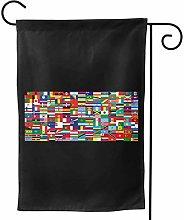 Luckchn - Bandiera da giardino con bandiere