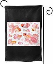 Luckchn - Bandiera da giardino con fiori di