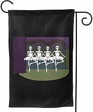 LUCKCHN Bandiera da giardino con scheletri