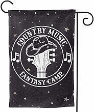 LUCKCHN Bandiera da giardino Country Music Fantasy