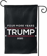 Luckchn - Bandiera da giardino Donald Trump 2020