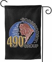 Luckchn, bandiera da giardino, grande logo 490th