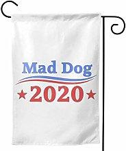 LUCKCHN Bandiera da giardino Mad Dog 2020 doppia