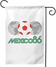 Luckchn - Bandiera da giardino Messico 86, doppia