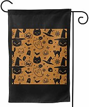 Luckchn - Bandiera da giardino, motivo Halloween,