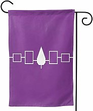 LUCKCHN - Bandiera da giardino, motivo: persone