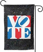 Luckchn, bandiera da giardino quadrata per voto,