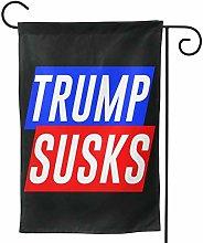 Luckchn, bandiera da giardino Trump succhia