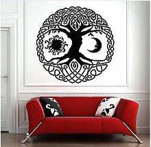 Luna e sole Albero della vita Adesivi murali in