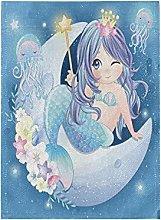 Luna Sirena Carina Blu Bandiera del Giardino