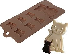Lunji - Stampo per cioccolato e gatto, in silicone