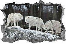 Lupo, arte della parete, pacchetto lupo, adesivo,