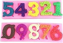Lusso Barocco Compleanno Numeri, 3D in Silicone