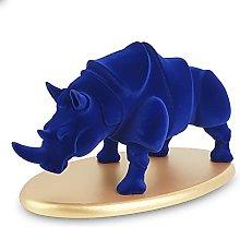 Lusso Velluto Scultura Di Rinoceronte,Resina Fauna